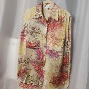 SZ medium cabbie sleeveless silk blouse   b9